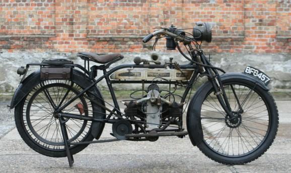 Douglas 2¾hp 350ccm 1915 originaler fahrbereiter Zustand